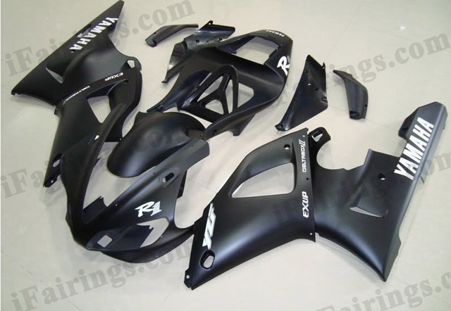 2000 2001 YZF-R1 matt/flat black fairings