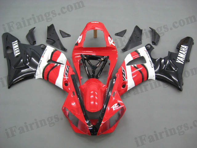 2000 2001 YZF-R1 red and black fairing kits