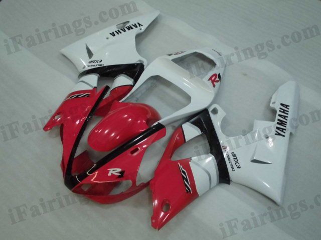 2000 2001 YZF-R1 red and white fairings