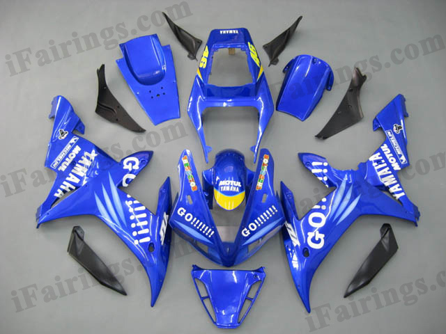 2002 2003 YZF-R1 blue GO!!! fairing kits