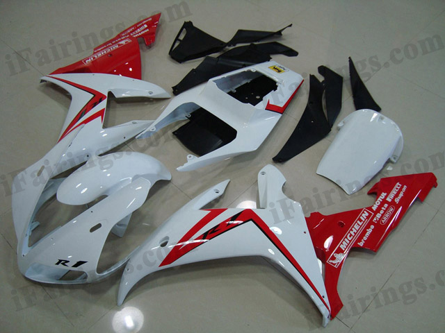 2002 2003 YZF-R1 white and red fairing kits