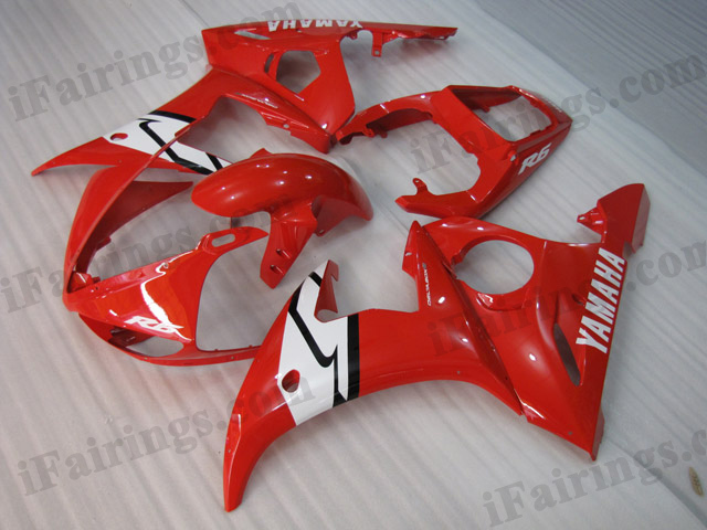 2003 2004 2005 Yamaha YZF-R6 red fairing kits.