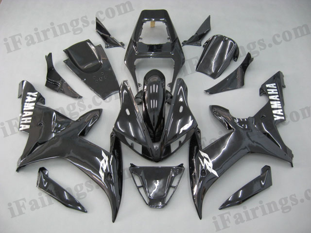 2002 2003 YZF-R1 glossy black fairing kits