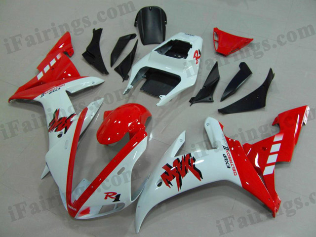 2002 2003 YZF-R1 red and white fairing kits