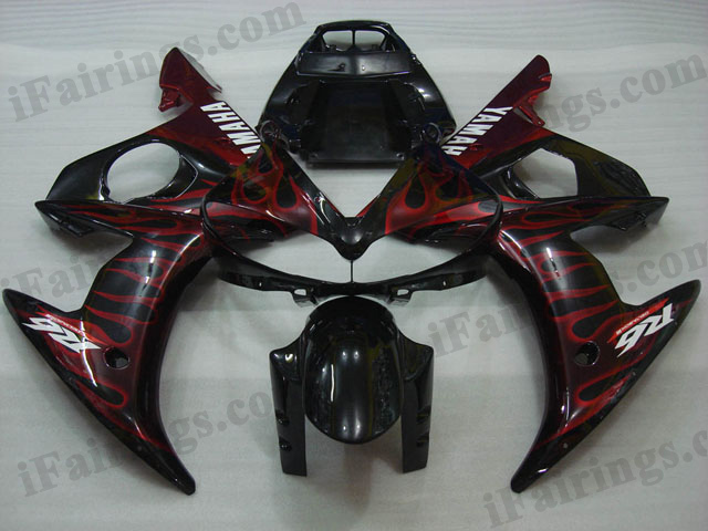 2003 2004 2005 YZF R6 red flame fairing kits