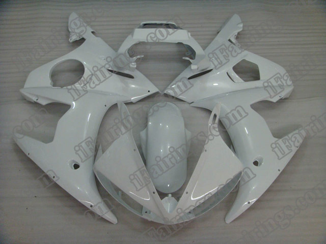 2003 2004 2005 YZF R6 pearl white fairing kits
