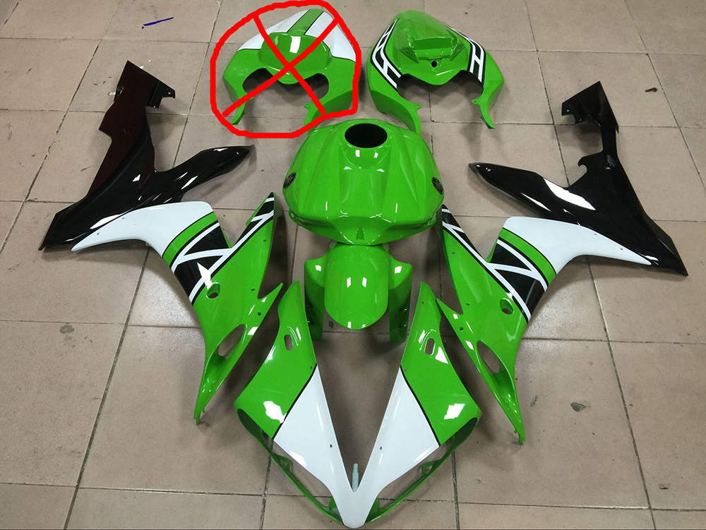 2004 2005 2006 Yamaha R1 green/white/black fairing kit