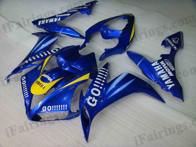 2004 2005 2006 Yamaha YZF-R1 blue GO!!! fairing kits.