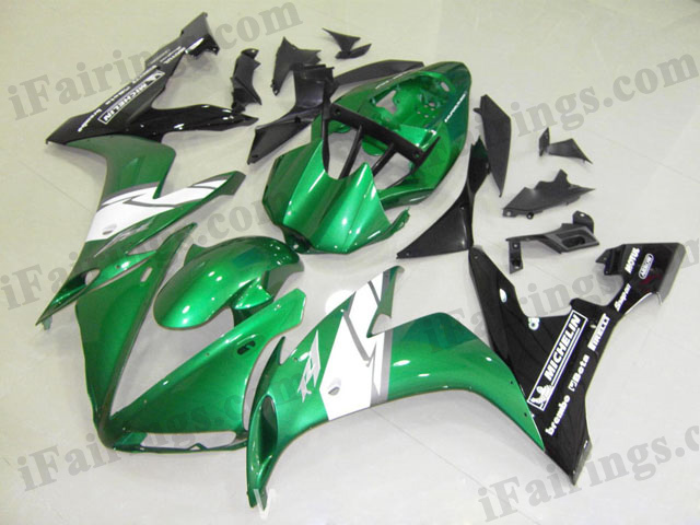 2004 2005 2006 YZF-R1 candy green and black fairings