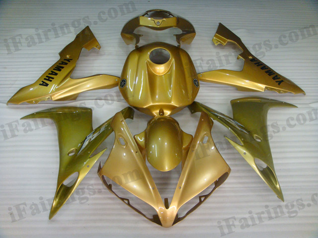 2004 2005 2006 Yamaha YZF-R1 gold fairing kits.