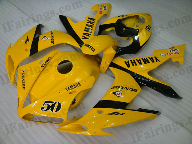2004 2005 2006 YZF-R1 yellow DUNLOP fairing kits