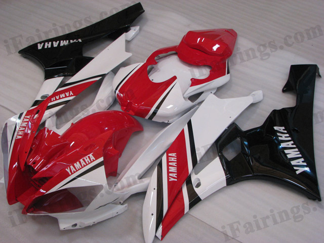 2006 2007 YZF R6 oem matched white and red fairings