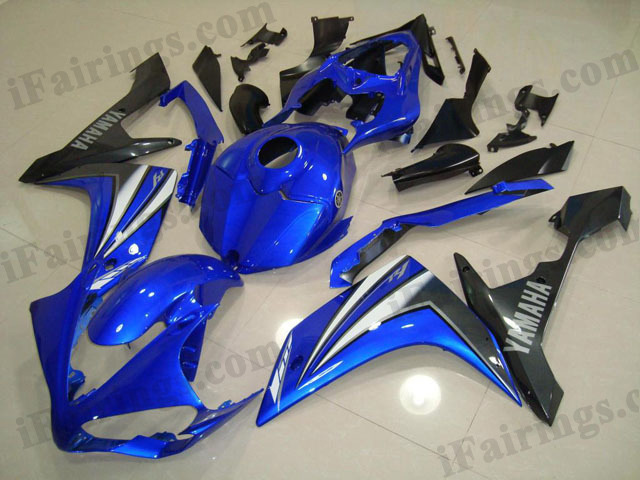 2007 2008 YZF R1 blue and gray fairings