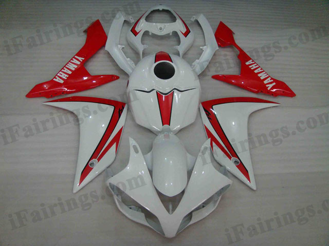 2007 2008 YZF R1 white and red fairing kits