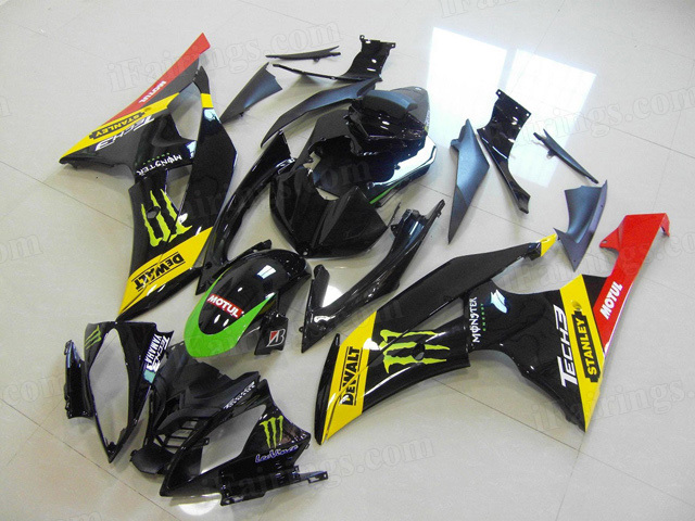 2008 to 2015 Yamaha YZF R6 monster graphic fairing kits.