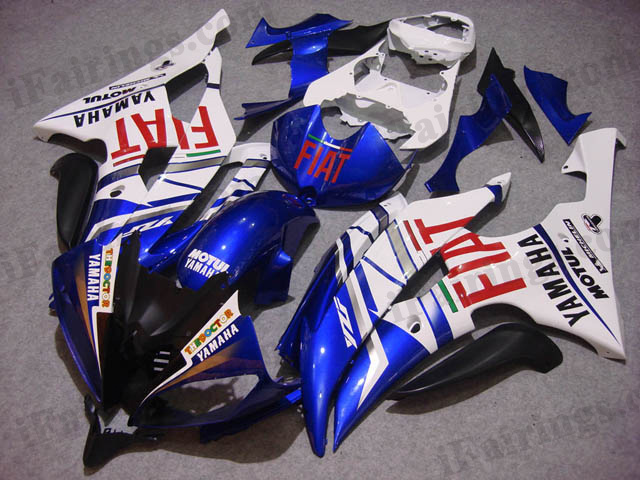 2008 to 2015 YZF R6 fiat graphic fairings.