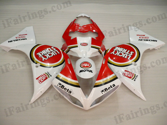 2009 2010 2011 Yamaha YZF-R1 Lucky Strike team race replica fairing kits.