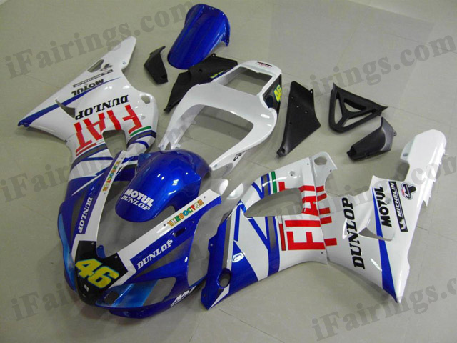 aftermarket fairings for 1998 1999 YZF R1 Fiat race replica graphic.