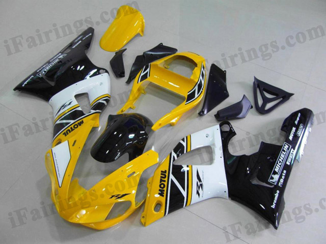 aftermarket fairings for 2000 2001 YZF R1 50th anniversary graphic.