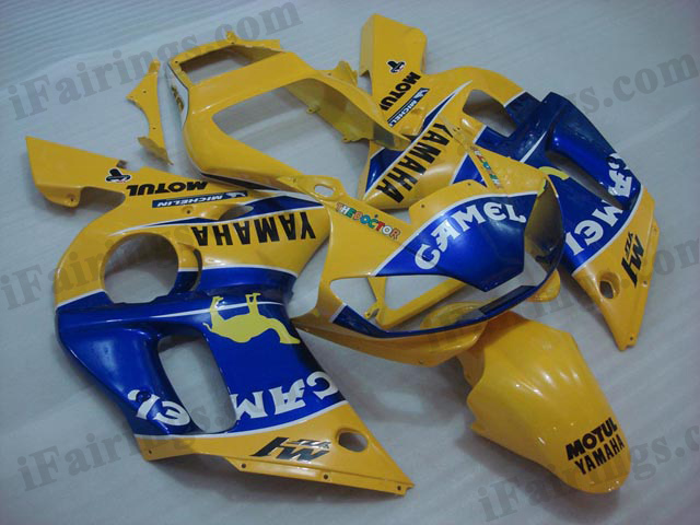 aftermarket fairings for 1999 to 2002 YZF R6 Camel decals.