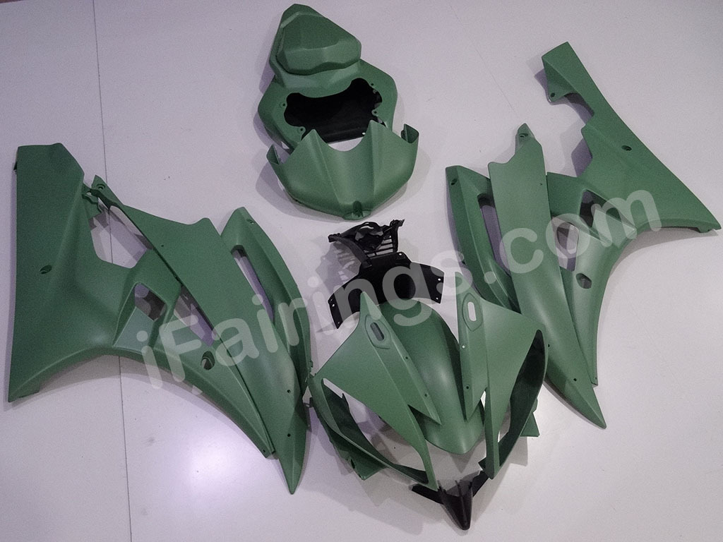 Army matte green fairings for 2006 2007 Yamaha YZF-R6.