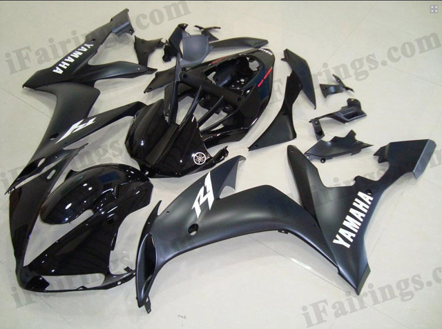 fairings for 2004 2005 2006 YZF R1 matt black/glossy black scheme