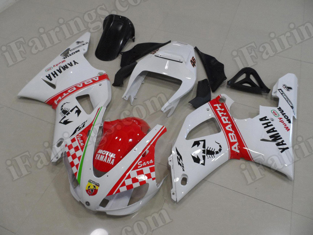 Motorcycle fairings/body kits for 1998 1999 Yamaha YZF R1 ABARTH replica.