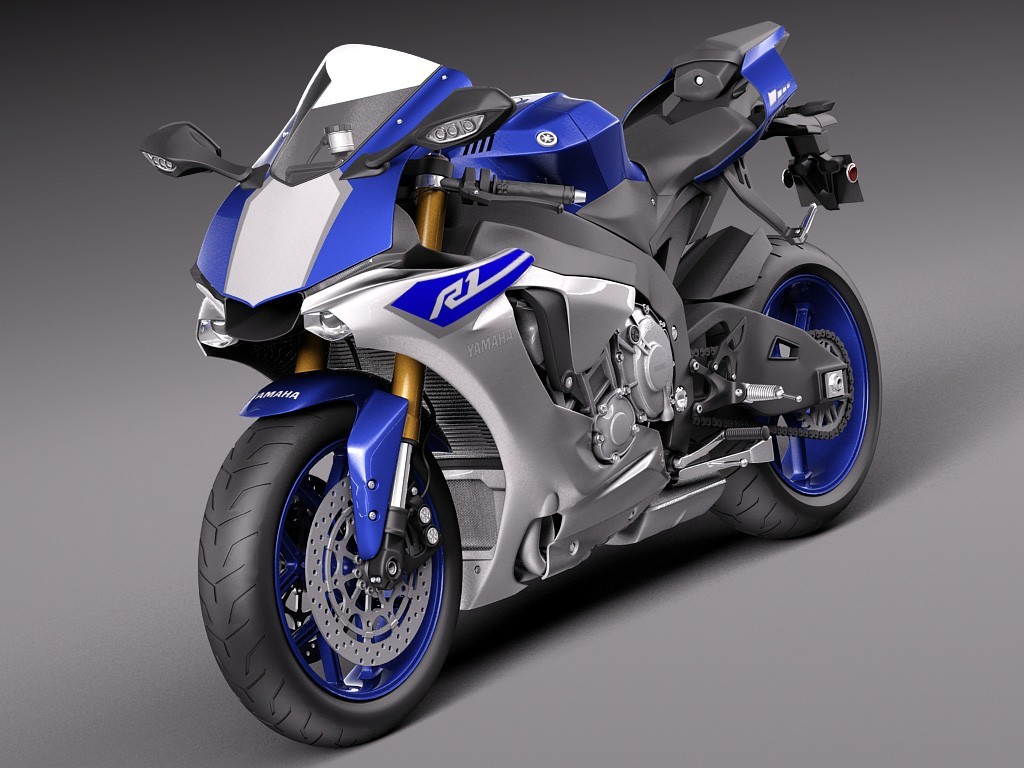 Motorcycle fairings for 2015 2016 Yamaha YZF-R1 blue/silver.