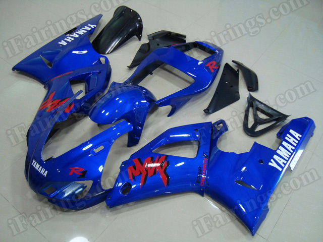 Motorcycle fairings/body kits for 1998 1999 Yamaha YZF R1 blue.