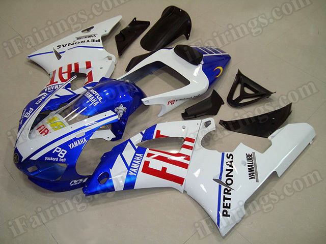 Motorcycle fairings/body kits for 1998 1999 Yamaha YZF R1 Fiat replica.