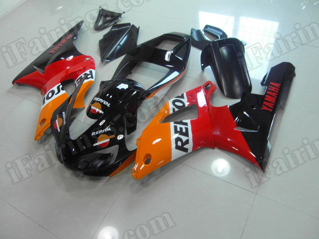 Motorcycle fairings/body kits for 1998 1999 Yamaha YZF R1 Repsol replica.