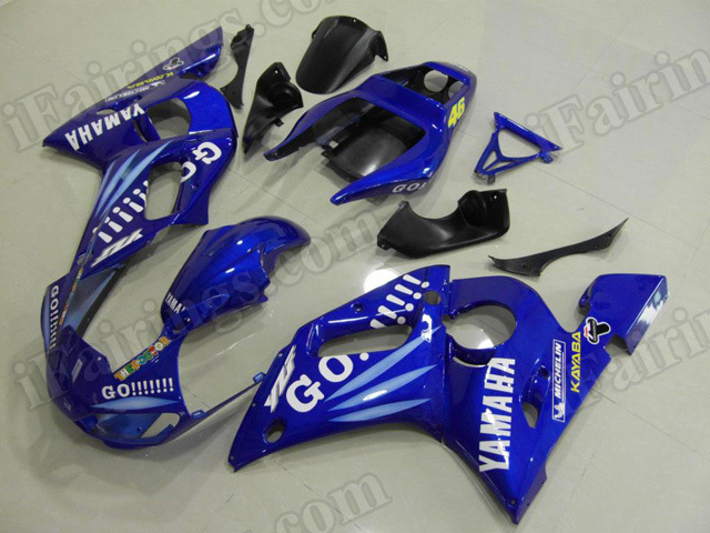 Motorcycle fairings/body kits for 1999 to 2002 Yamaha YZF R6 GO!!!! replica.