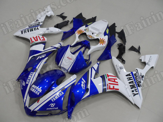 Motorcycle fairings/body kits for 2004 2005 2006 Yamaha YZF R1 Fiat replica.