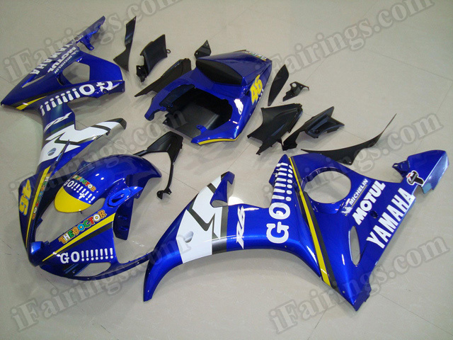 Motorcycle fairings/body kits for 2003 2004 2005 Yamaha YZF R6 GO!!!! replica.
