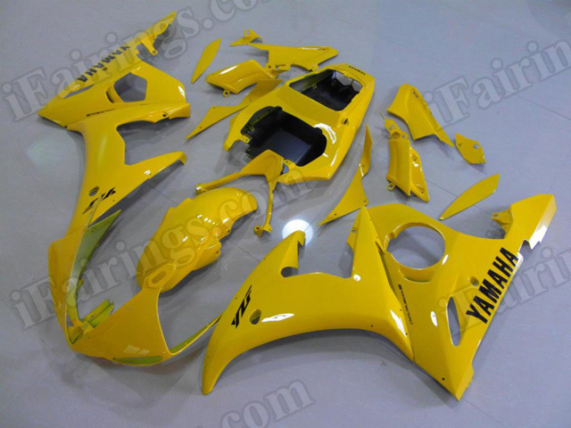 Motorcycle fairings/body kits for 2003 2004 2005 Yamaha YZF R6 yellow.