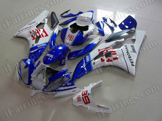 Motorcycle fairings/body kits for 2006 2007 Yamaha YZF R6 Fiat replica.