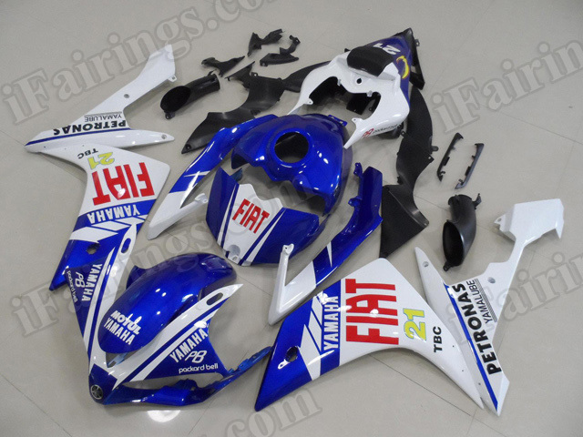 Motorcycle fairings/body kits for 2007 2008 Yamaha YZF R1 Fiat replica.