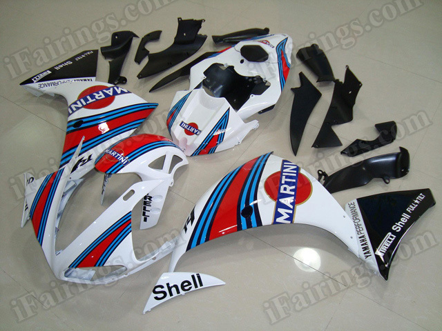Motorcycle fairings/body kits for 2009 2010 2011 Yamaha YZF R1 MARTINI replica.