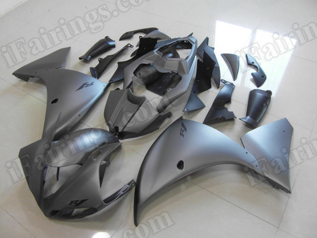 Motorcycle fairings/body kits for 2009 2010 2011 Yamaha YZF R1 matte grey.