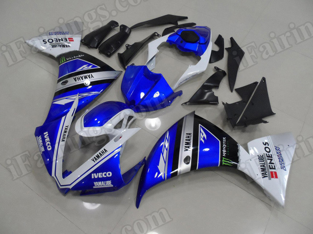 Motorcycle fairings/body kits for 2012 2013 2014 Yamaha YZF R1 OEM new blue paint scheme.