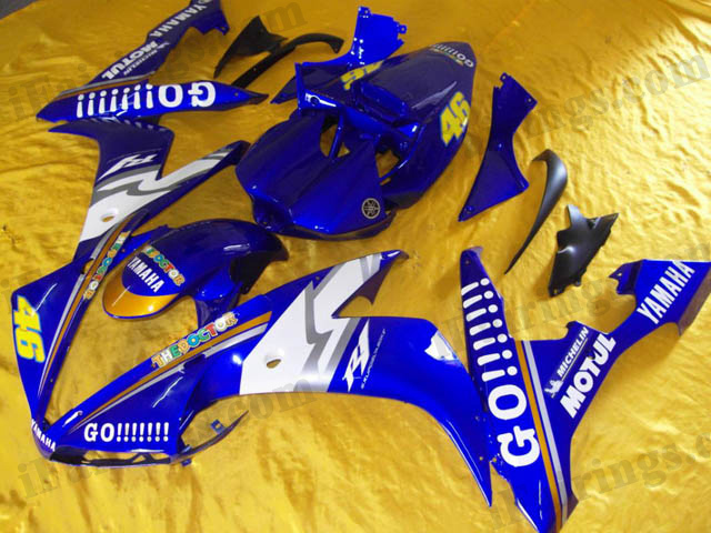 replacement fairings for 2004 2005 2006 YZF R1 GO!!! decals.