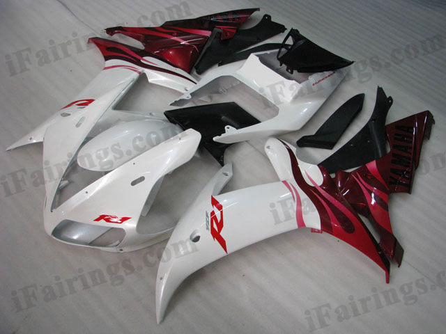 YZF-R1 2002 2003 white and red fairings, 2002 2003 R1 replacement.