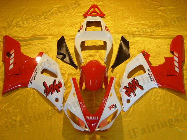 YZF-R1 2000 2001 red and white fairings, 2000 2001 YZF-R1 replacement.