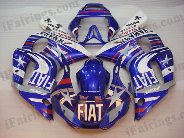 YZF-R6 1999 to 2002 Fiat limited edition fairings, R6 Fiat limited edition decal.