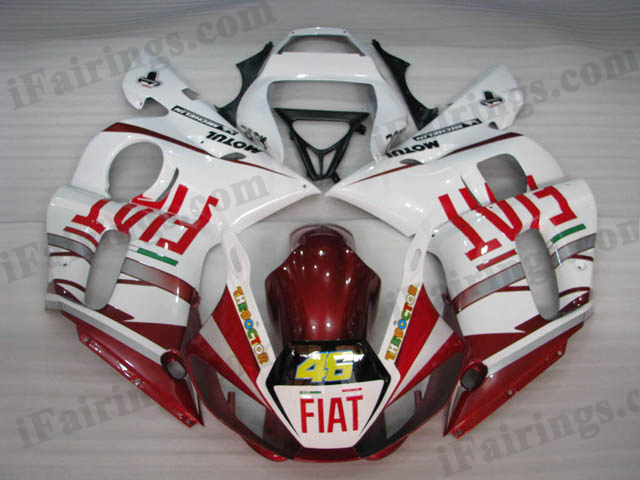 YZF-R6 1999 to 2002 Fiat replica fairings, R6 Fiat decals.