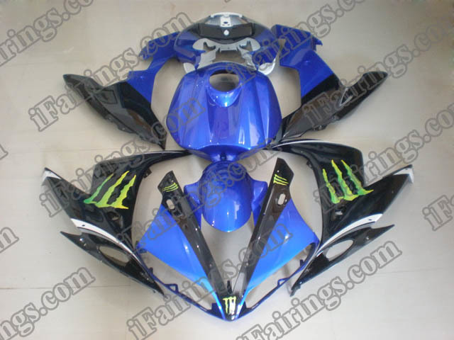 YZF-R1 2004 2005 2006 monster fairings, 2004 2005 2006 R1 custom fairing.