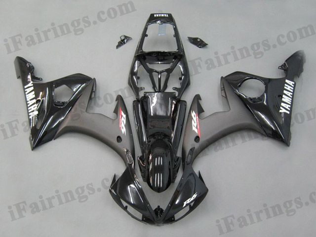 YZF-R6 2003 2004 2005 black fairings, 2003 2004 2005 R6 replacement bodywork.