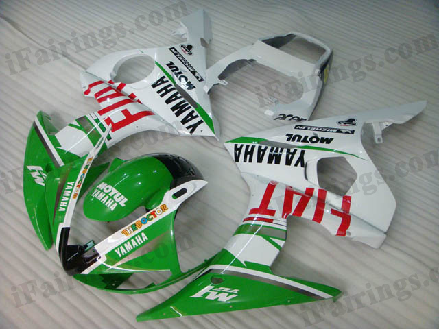 YZF-R6 2003 2004 2005 Fiat replica fairings, 2003 2004 2005 R6 plastic.