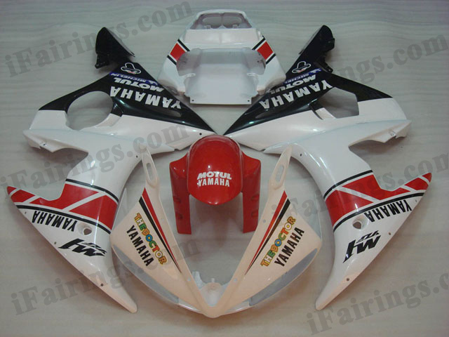 YZF-R6 2003 2004 2005 50th anniversary fairings, 2003 2004 2005 R6 decals.