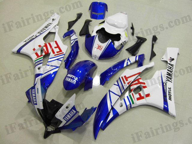 YZF-R6 2006 2007 Fiat fairings, 2006 2007 R6 stickers.